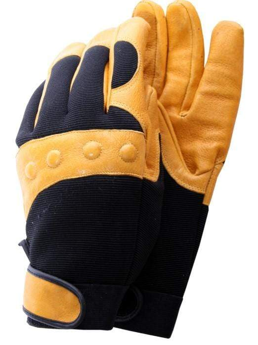 Town & Country Gloves Large Gloves Mens Comfort Fit Yellow and Black
