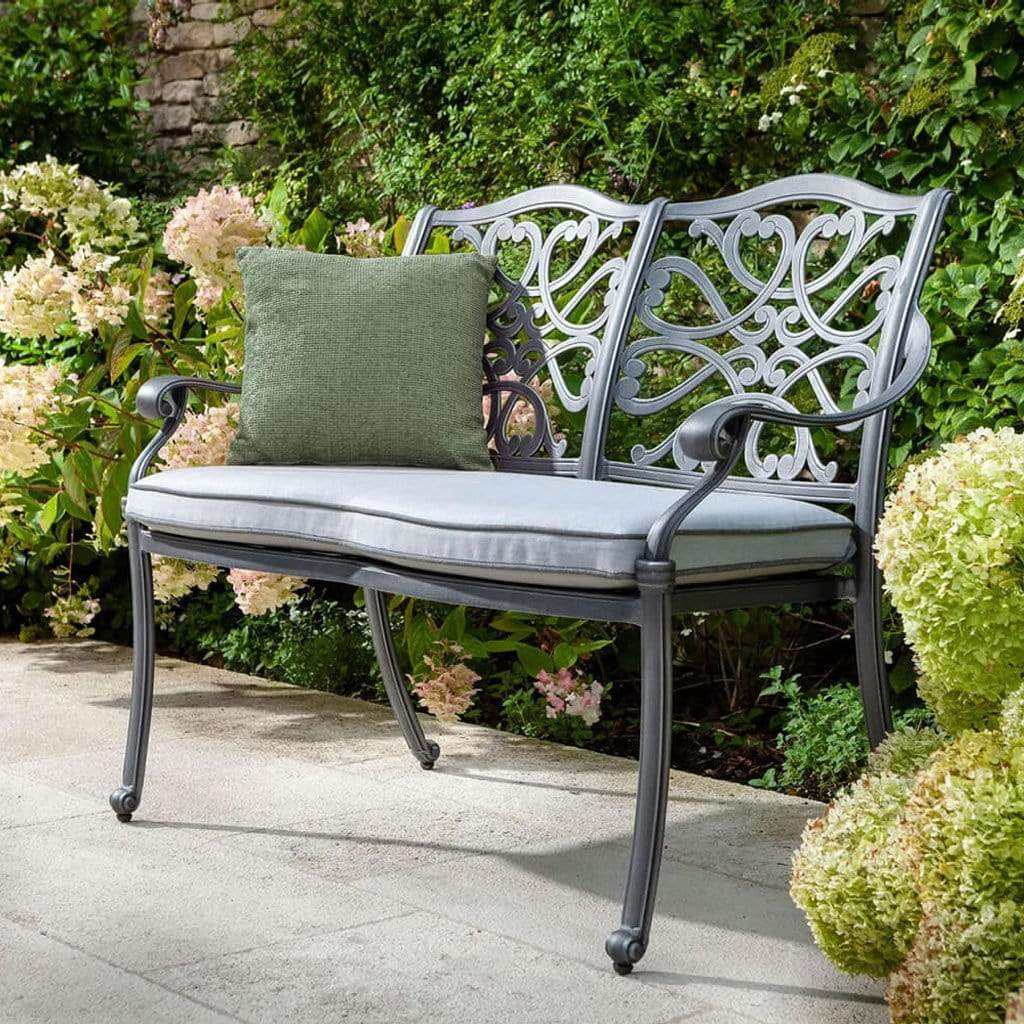 Hartman Garden Benches Hartman Capri Bench In Antique Grey