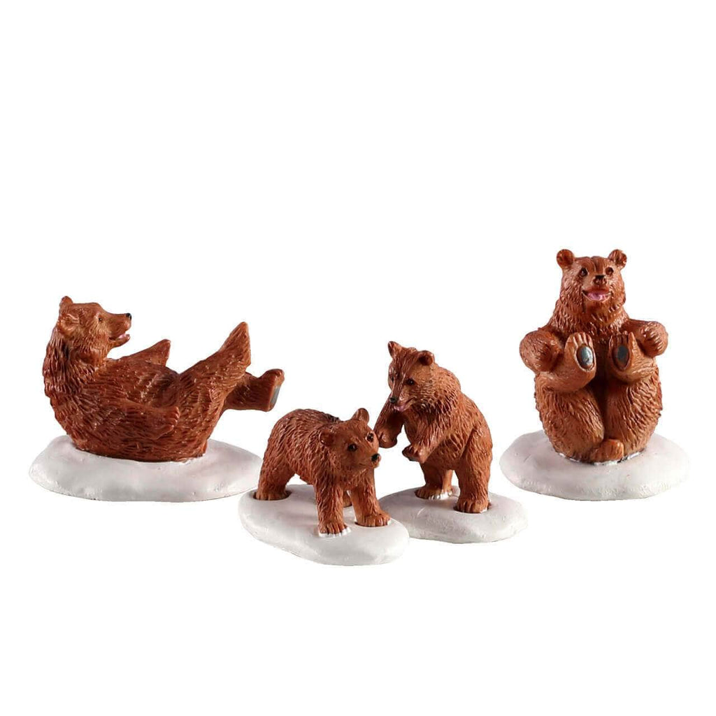 Lemax Figurines Lemax Bear Family Snow Day, Set of 4