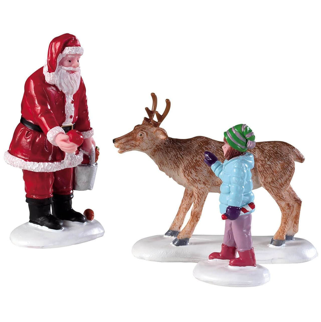Lemax Figurines Lemax Christmas Figurine, Reindeer Goodies