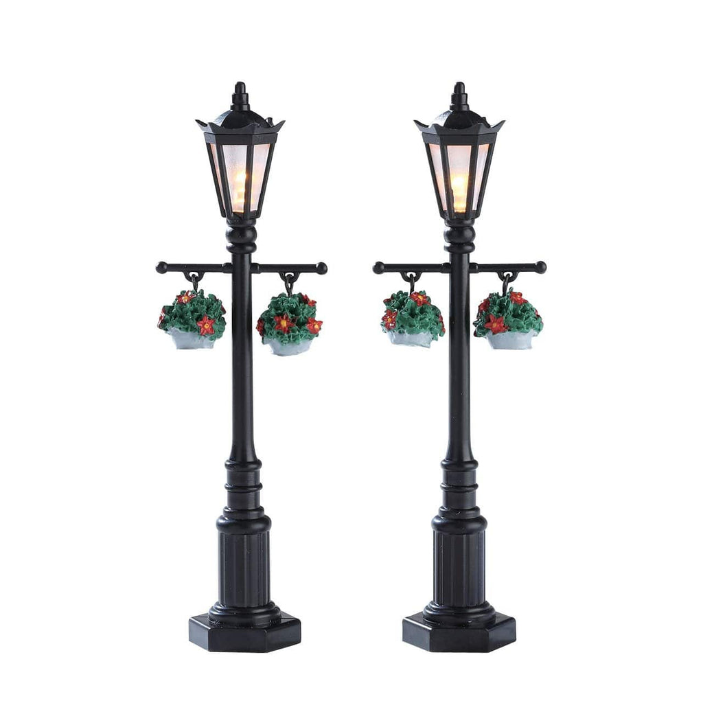 Lemax Accessory Lemax Christmas Village Accessory, Old English Lamp Post, Set of 2, B/O(4.5V)