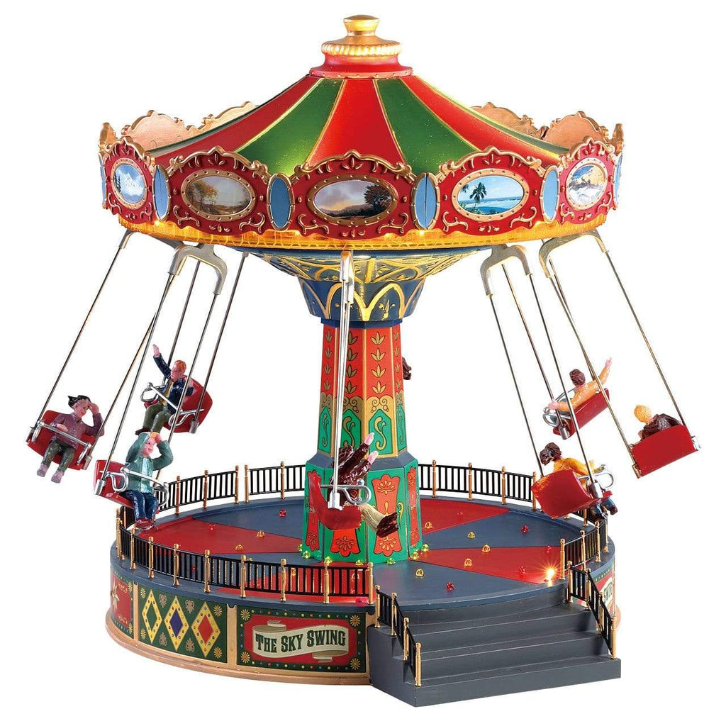 Lemax Sights and Sounds Lemax Christmas Village Accessory, The Sky Swing, With 4.5V Adaptor(UK)