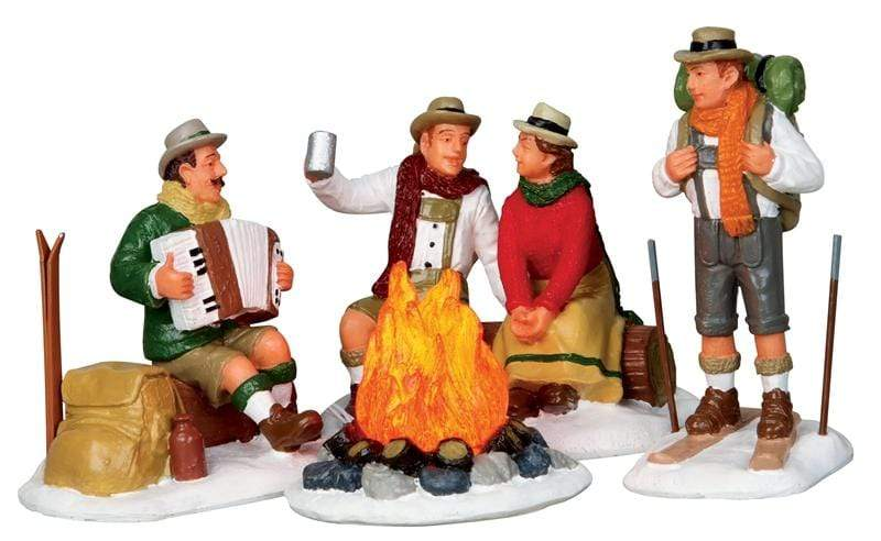 Lemax Accessory Lemax Christmas Village, Alpine Ski Party 4 pieces