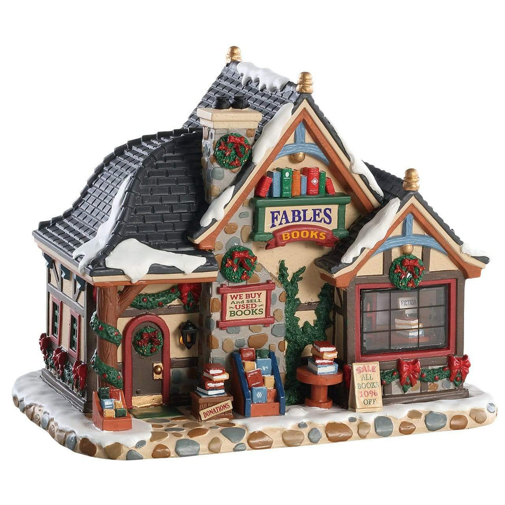 Lemax Lighted Buildings Lemax Christmas Village Building, Fables Bookstore, B/O(4.5V) LED