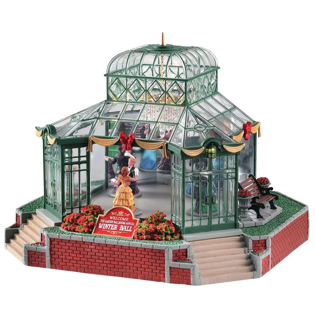 Lemax Sights and Sounds Lemax Christmas Village Building, The Garden Ballroom, With 4.5V Adaptor(UK)