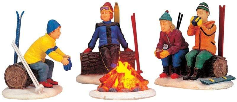 Lemax Accessory Lemax Christmas Village Skiers` Camp Fire, Set of 4