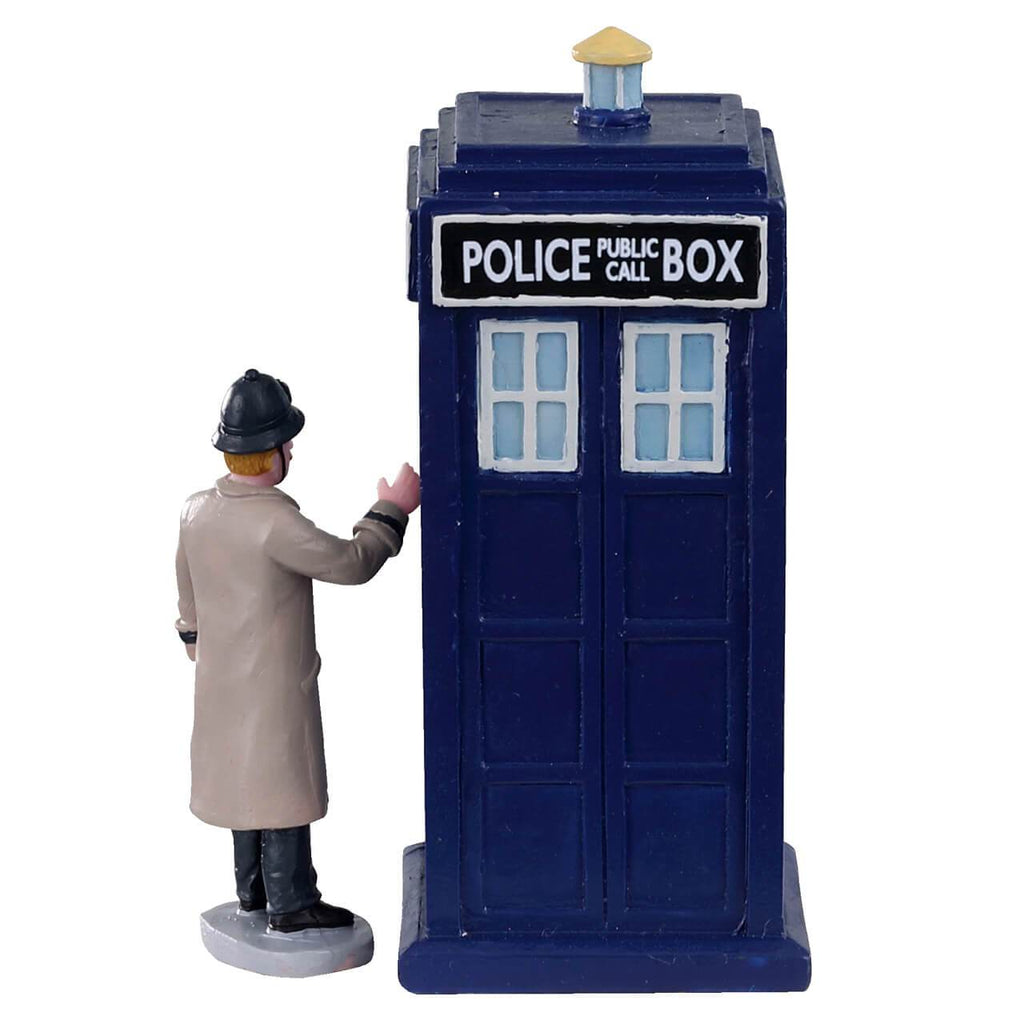 Lemax Table Pieces Lemax Police Call Box, Set of 2