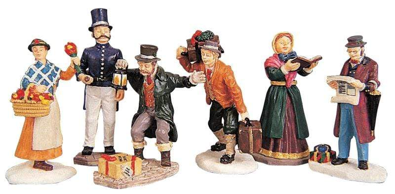 Lemax Figurine Lemax Townsfolk Figurines, Christmas Village Figurines, Set of 6