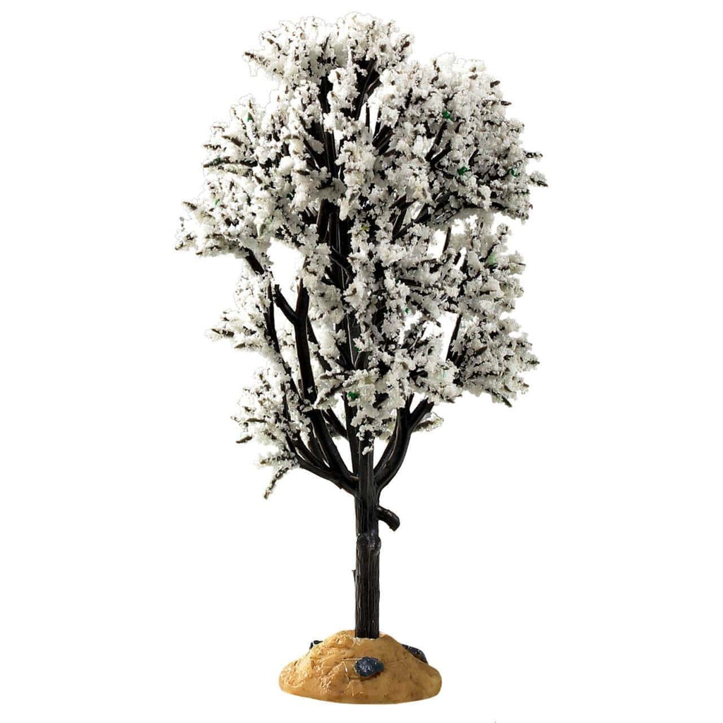 Lemax Accessory Lemax White Hawthorn Tree, Christmas Village Accessory,