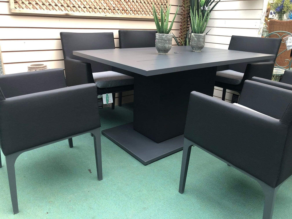 Pembrook Garden Furniture Set Pembrook Stockholm 6 Seater Rectangular Dining Set In Dark Grey