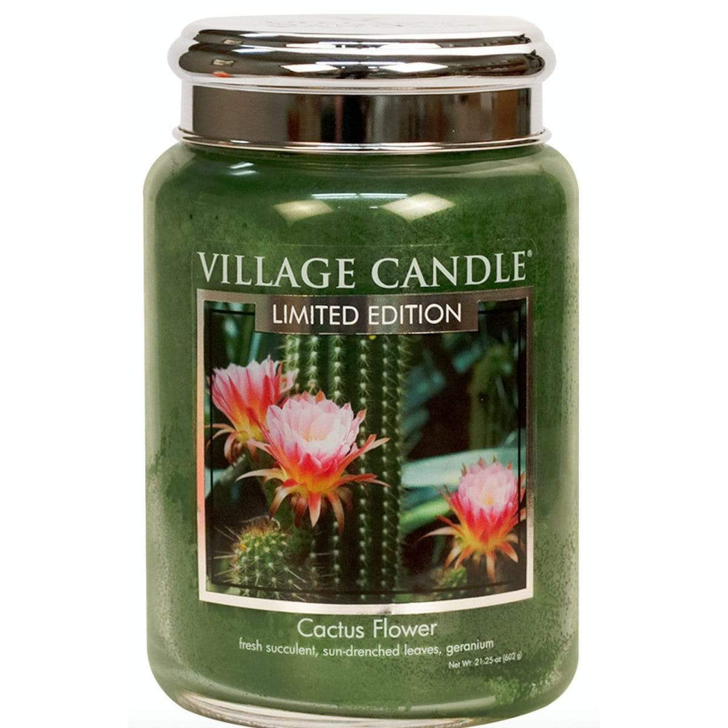 Village Candle Candle Village Candle Jar Cactus Flower Large