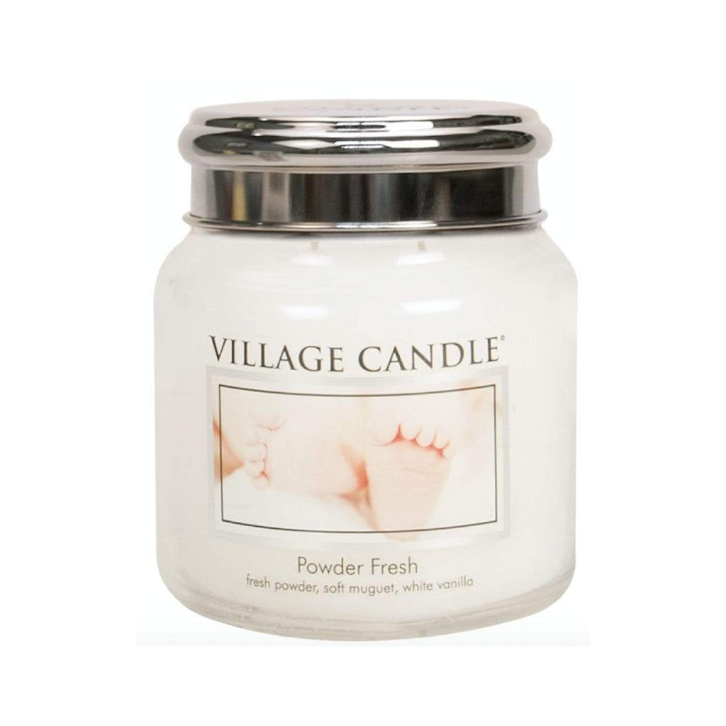 Village Candle Candle Village Candle Jar Powder Fresh Medium