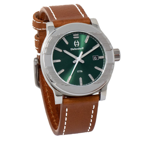 Forest Green Watch with Sunray Dial | Swiss Movement