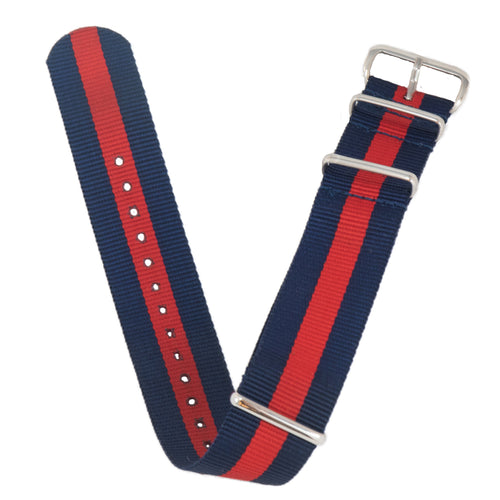 The full view of our blue and red NATO band.