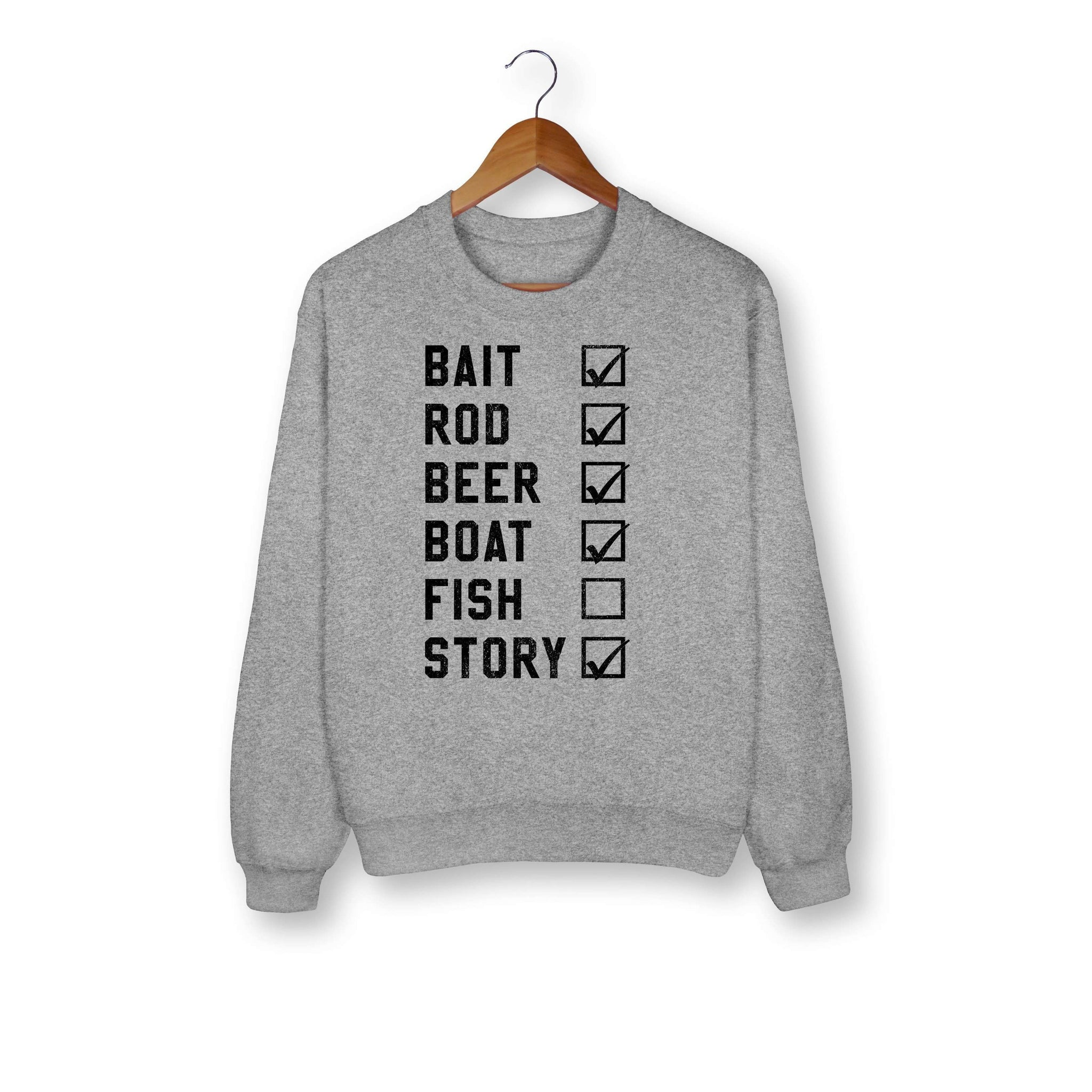 Fishing Check List Sweatshirt
