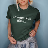 Forest shirt saying adventure and beer - HighCiti