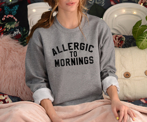 Allergic To Morning Muscle Tank - HighCiti