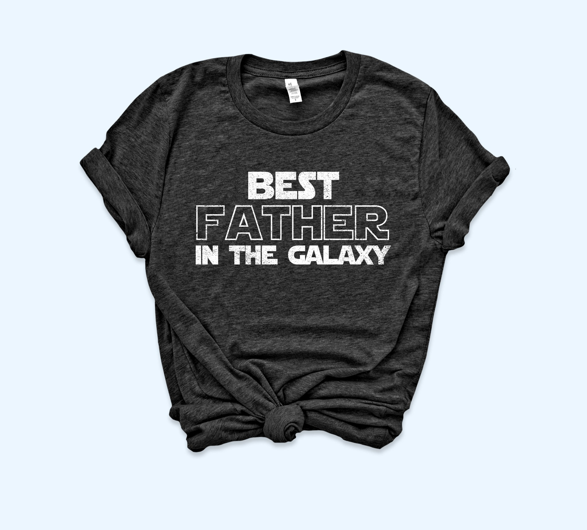 Black shirt saying best father in the galaxy - HighCiti