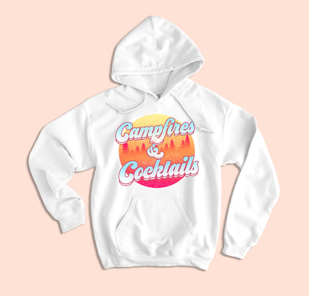 Campfires And Cocktails Hoodie - HighCiti