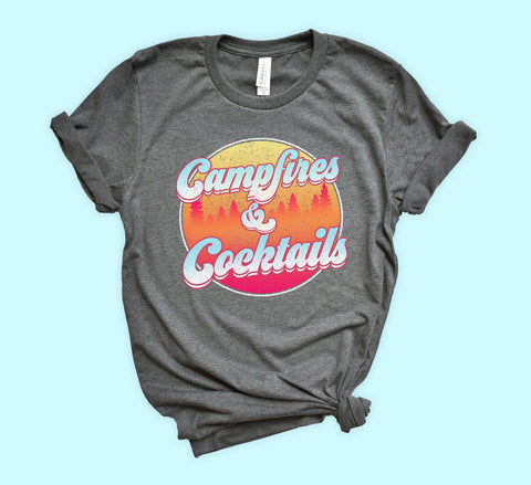 Campfires And Cocktails Shirt - HighCiti
