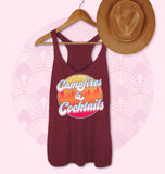 Maroon tank saying campfires and cocktails - HighCiti