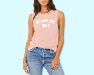 Champagne Diet Muscle Tank - HighCiti