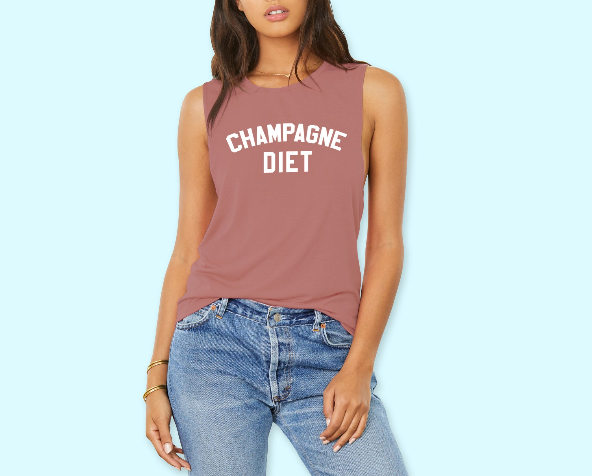 Champagne Diet Muscle Tank