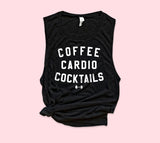 Coffee Cardio Cocktails Muscle Tank - HighCiti
