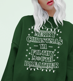 Forest sweatshirt saying merry Christmas ya filthy mouth breather - HighCiti