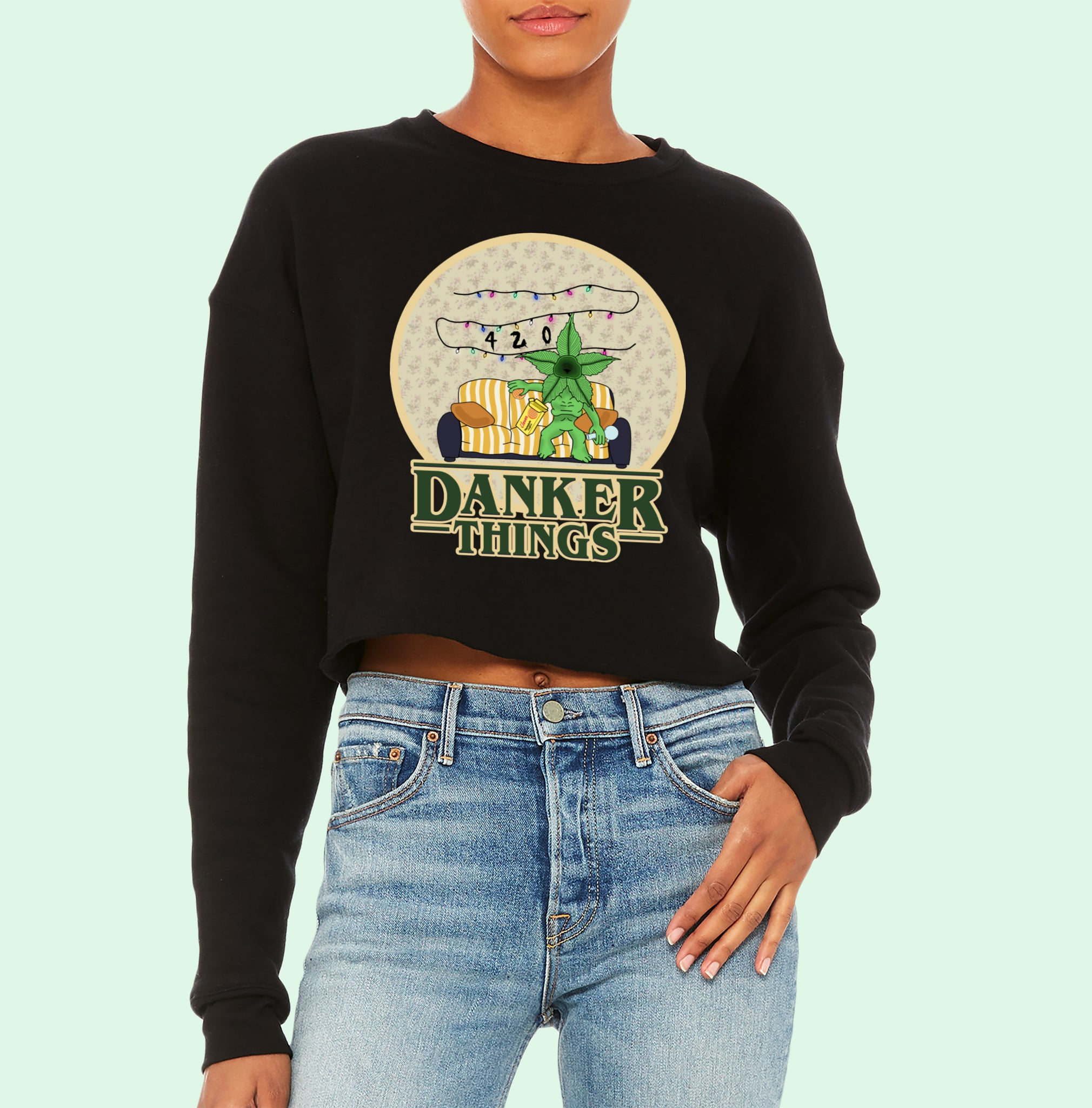 Danker Things Crop Sweatshirt