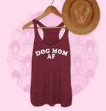 Maroon tank saying dog mom af - HighCiti