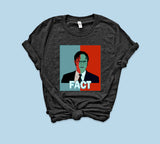 Heather black t-shirt with red and blue dwight schrute 2020 - HighCiti