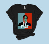Black t-shirt with red and blue dwight schrute 2020 - HighCiti