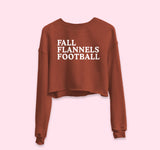 Fall Flannels Football Crop Sweatshirt - HighCiti