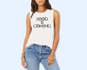 Food Is Coming  Muscle Tank - HighCiti