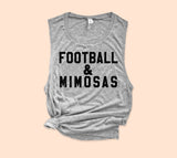 Football And Mimosas Muscle Tank