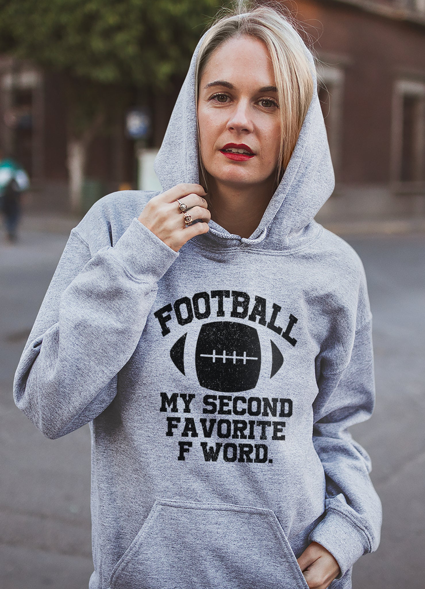 Football My Second Favorite F Word Hoodie