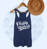 Navy tank top saying freshly baked - HighCiti