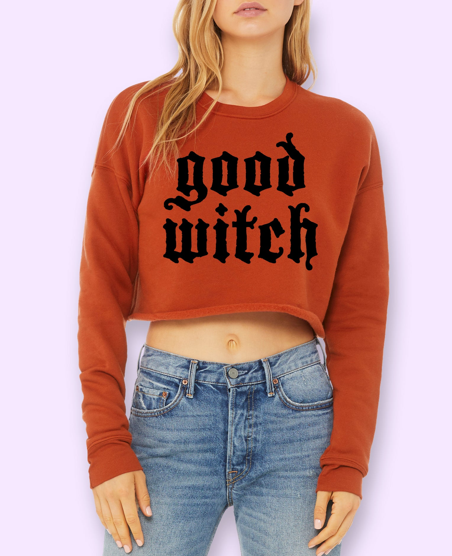 Good Witch Crop Sweatshirt
