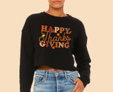 Happy Thanksgiving Crop Sweatshirt