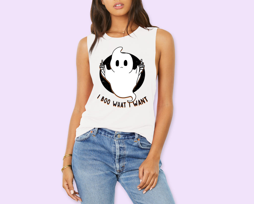 I Boo What I Want Muscle Tank - HighCiti