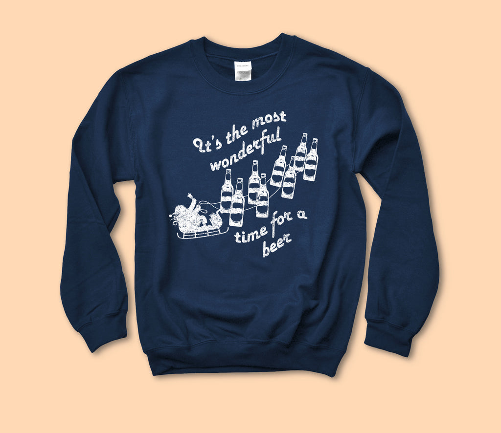 It's The Most Wonderful Time For A Beer Sweatshirt - HighCiti