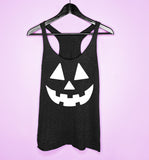 Black tank top with jack o lantern - HighCiti