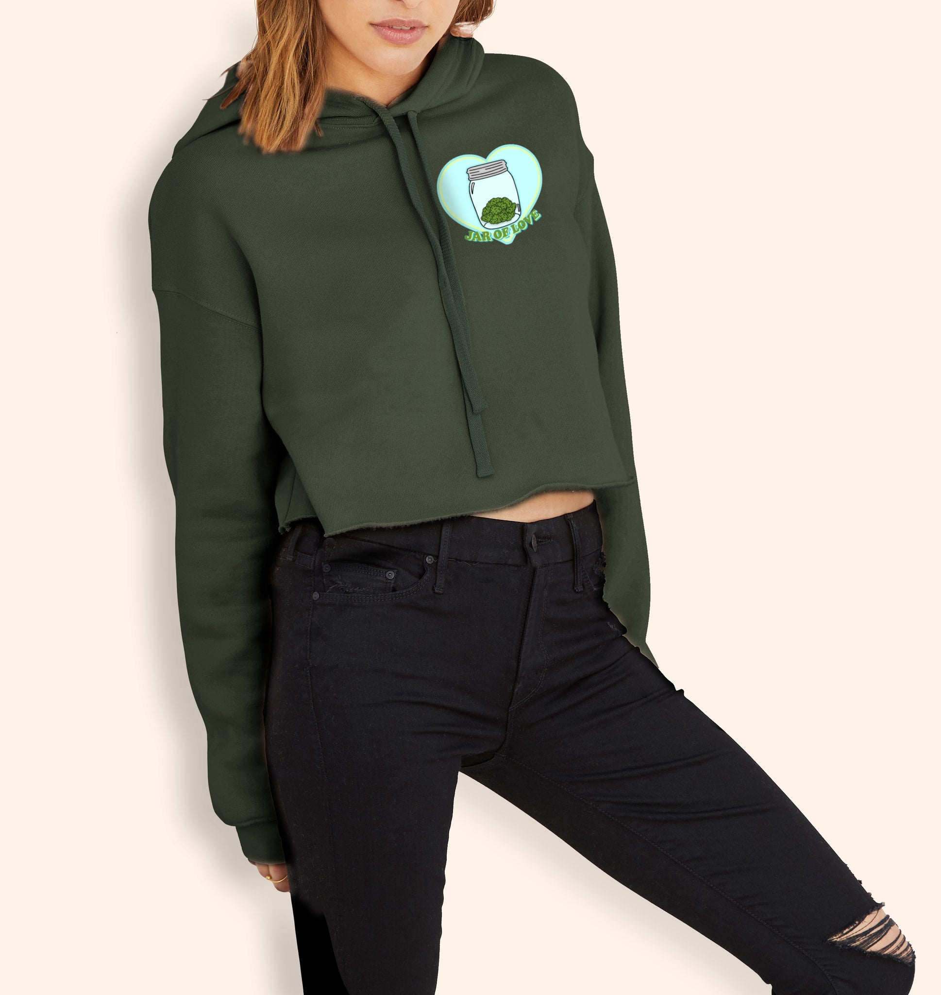 Jar Of Love Crop Hoodie