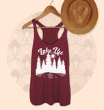 Maroon tank saying lake life - HighCiti
