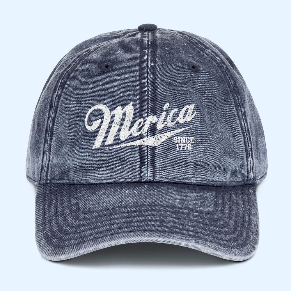 Merica Since 1776 Vintage Dad Cap - HighCiti