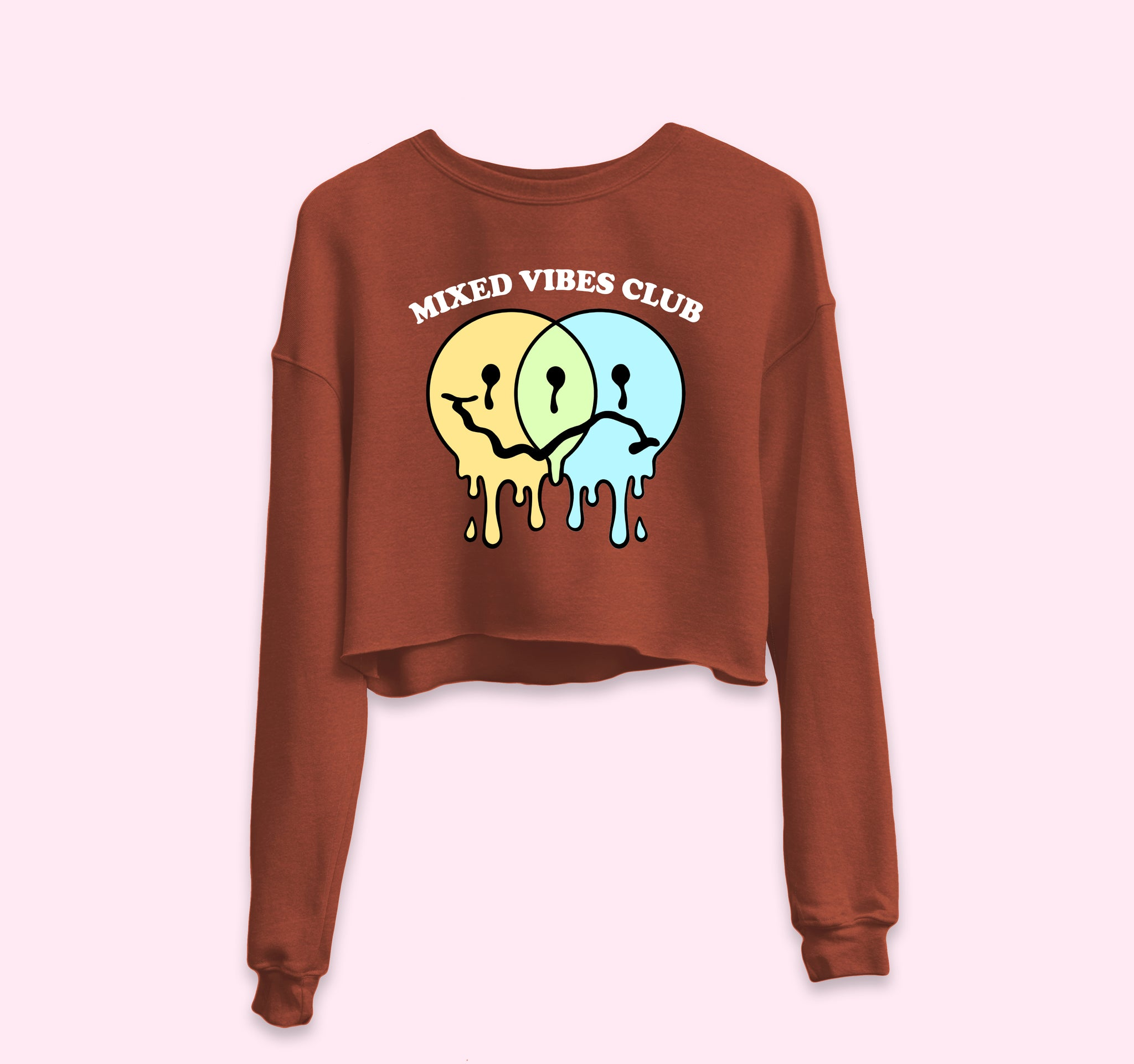 Mixed Vibes Club Crop Sweatshirt
