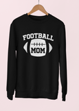 Black sweatshirt saying football mom - HighCiti