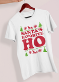 White shirt saying santa's favorite ho - HighCiti