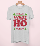 Grey shirt saying santa's favorite ho - HighCiti